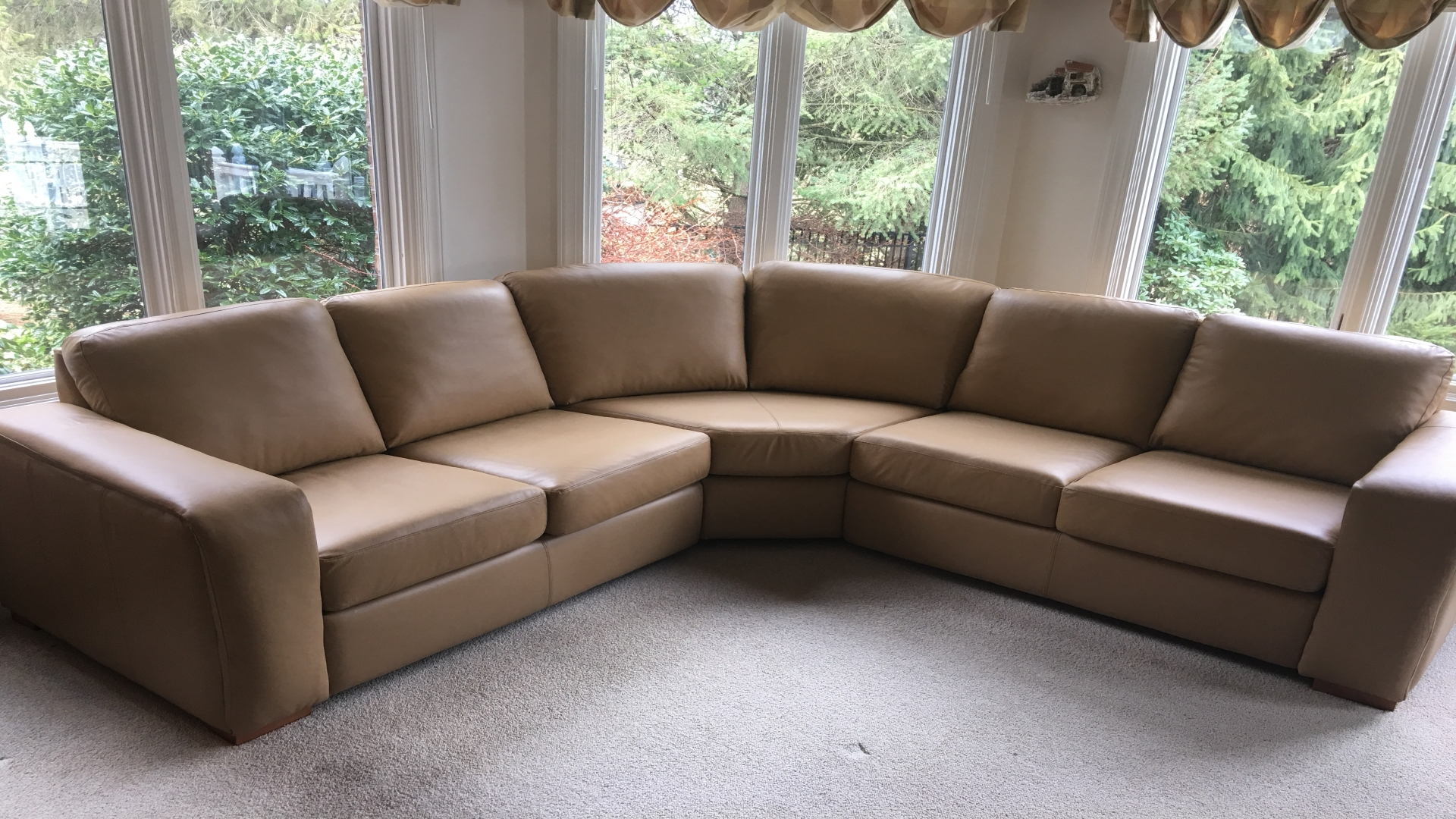 Tan Leather sectional