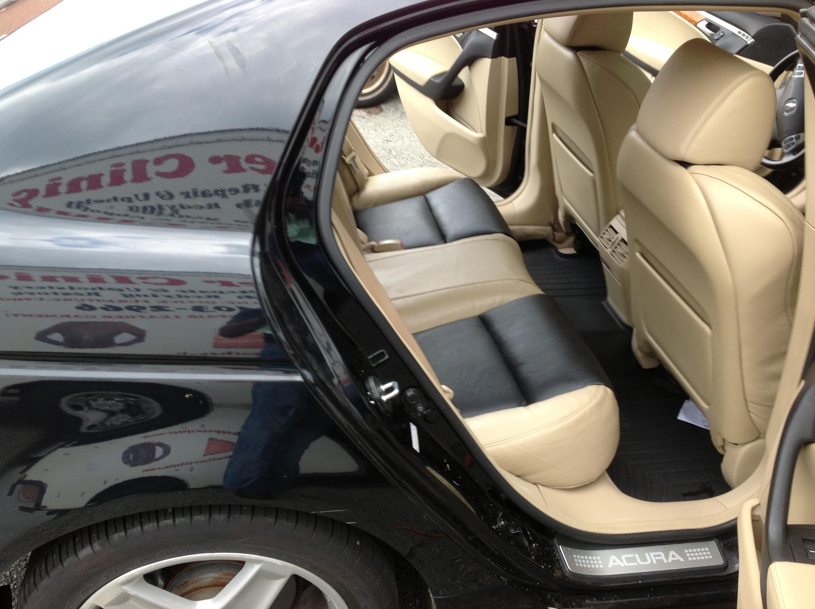 Acura rear seat