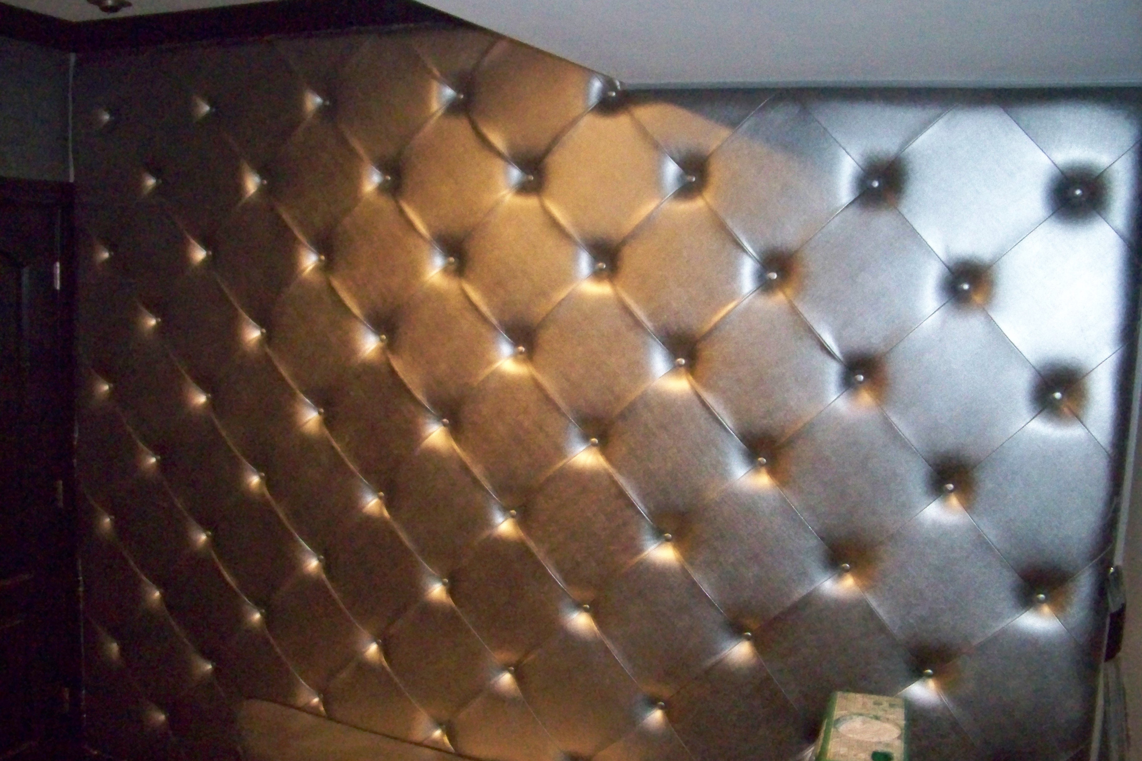 Dimond pattern wall upholstery
