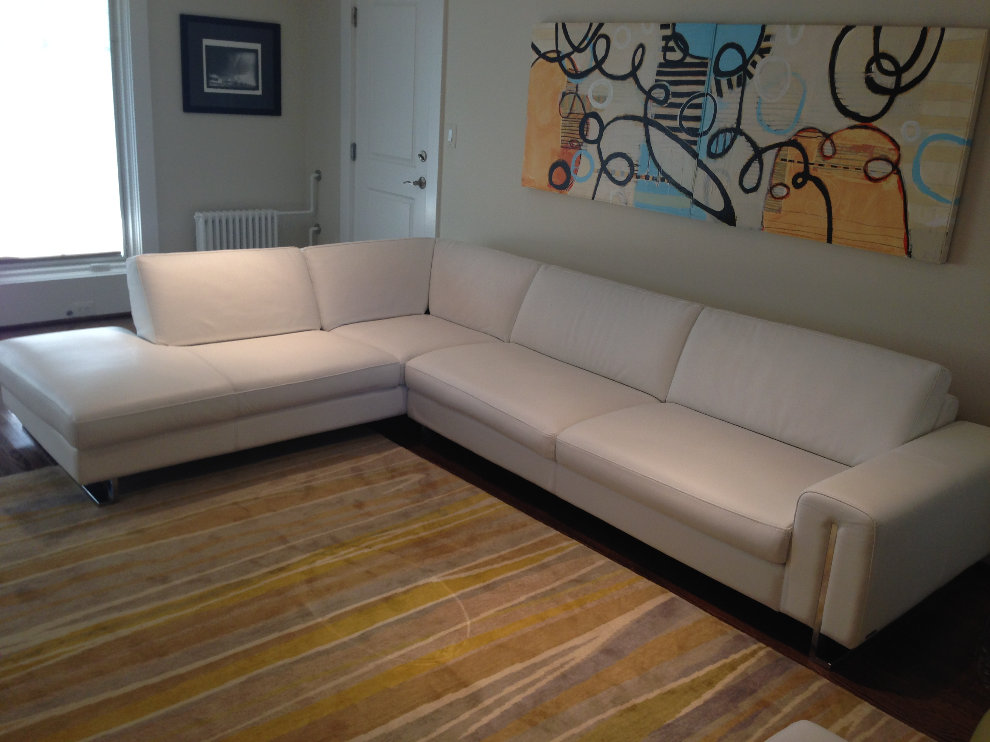 Leather Sectional (2)