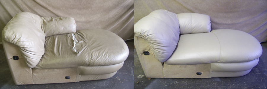 Sectional damage cushion before & after