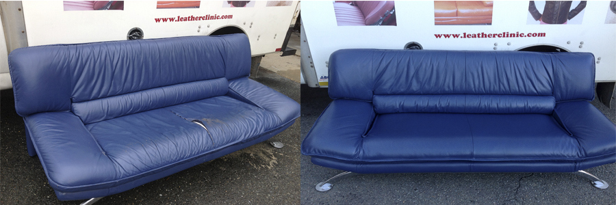 Sky Blue Sofa before&after