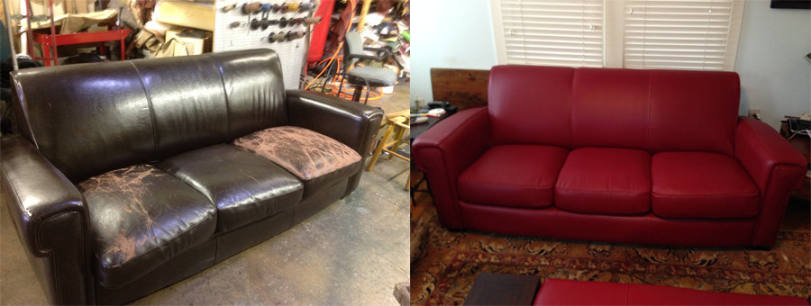 Sofa Before & after