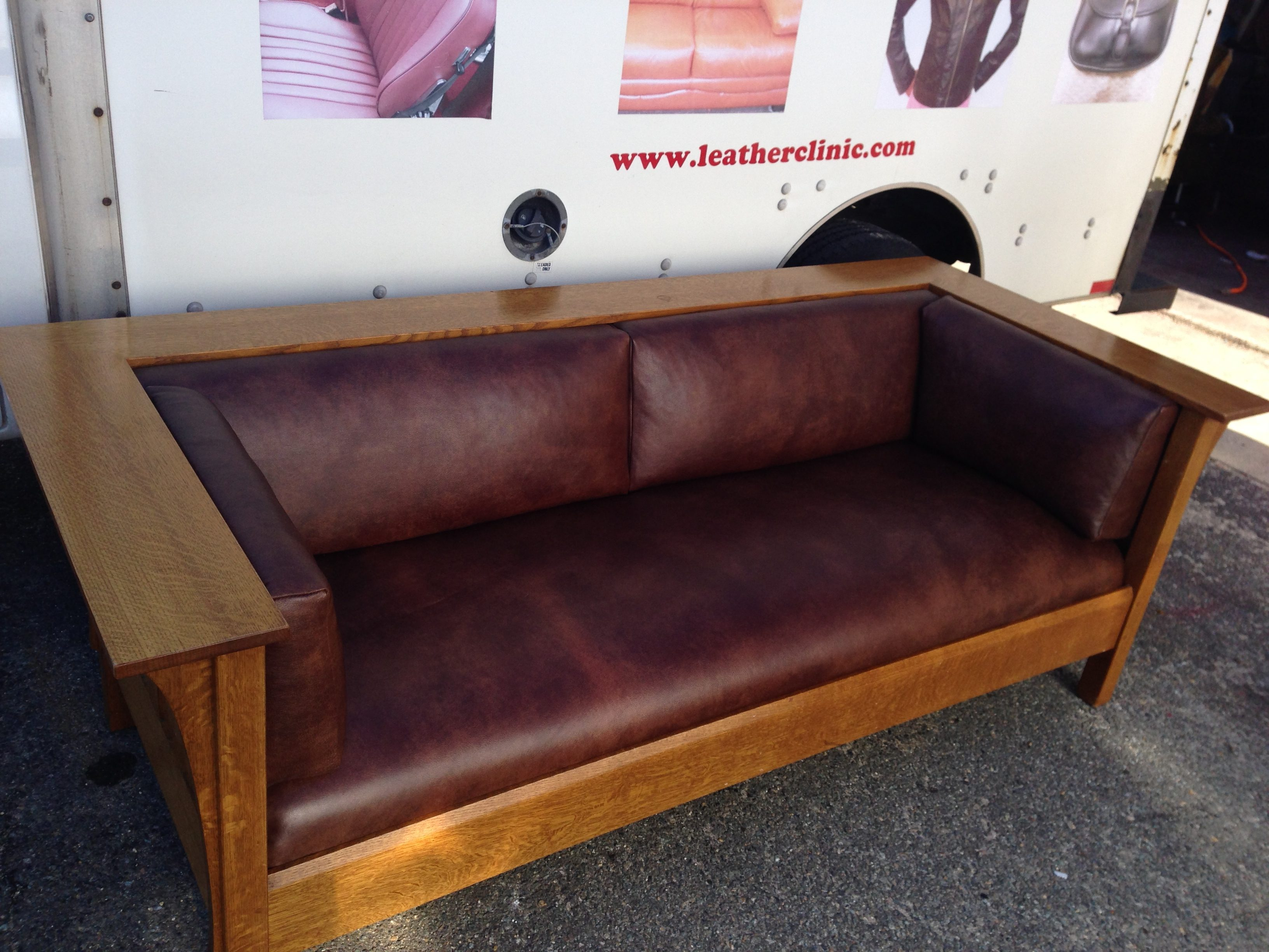 Sofa with wood frame